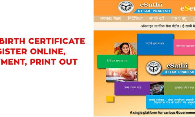 Birth Certificate UP Register Online, Payment, E-Sathi UP