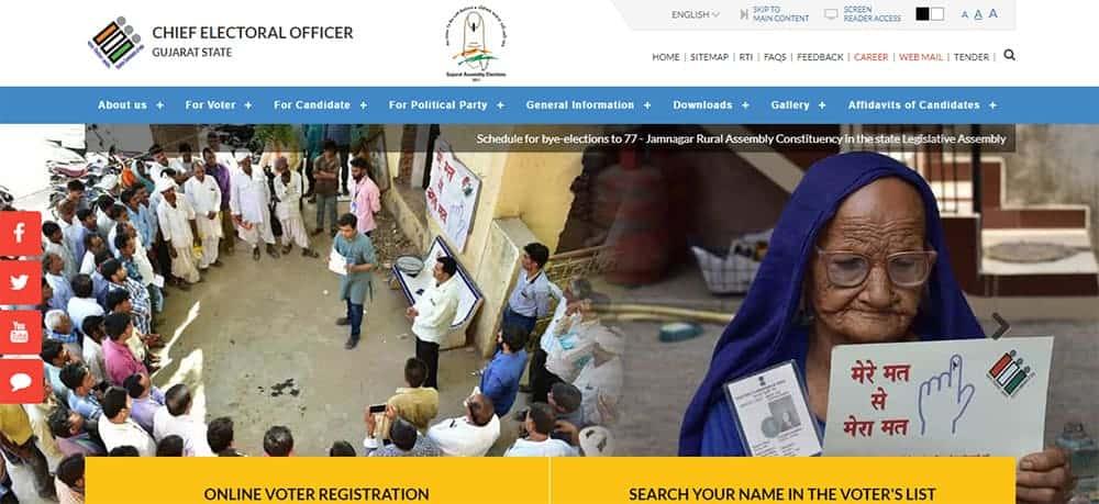 Gujarat CEO Voter List, Gujarat 2019 Lok Sabha Voter List , Gujarat Voter Pdf List