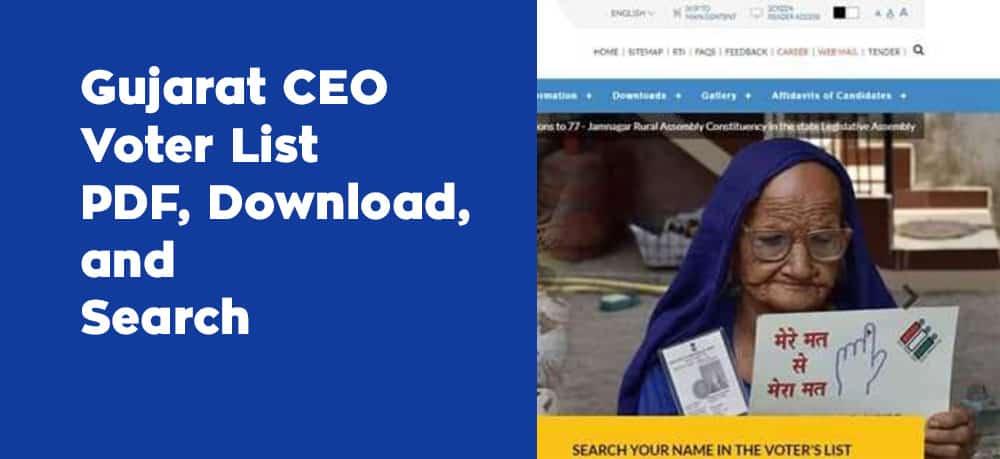 Gujarat CEO Voter List PDF Download Search