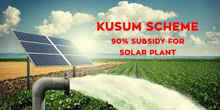 KUSUM Agriculture Solor Pump Subsidy Yojana