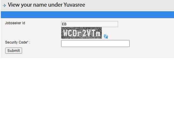 View your name under Yuvasree