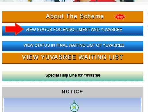 Yuvashree Arpan Scheme Enrollment Status