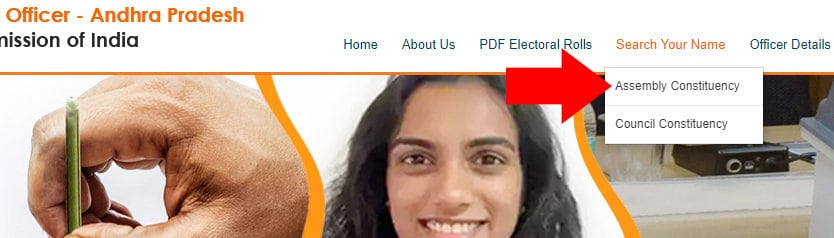 CEO Andhra Pradesh Search Voter By Name