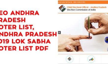 CEO Andhra Pradesh Voter List, Andhra Pradesh 2019 Lok Sabha Voter List PDF