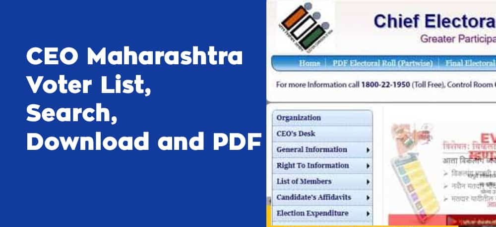 CEO Maharashtra Voter List, Search, Download and PDF