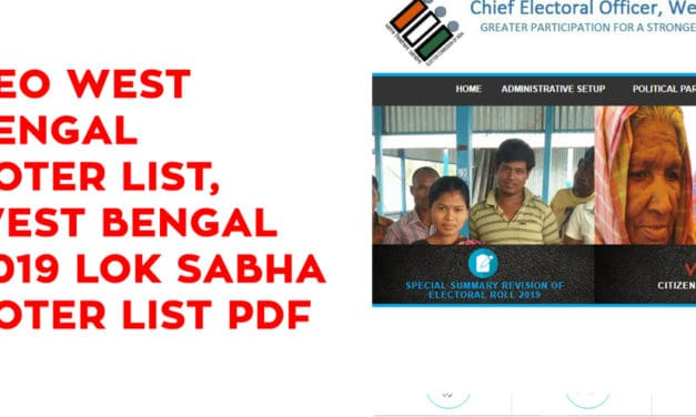CEO West Bengal Voter List, West Bengal 2019 Lok Sabha Voter List PDF