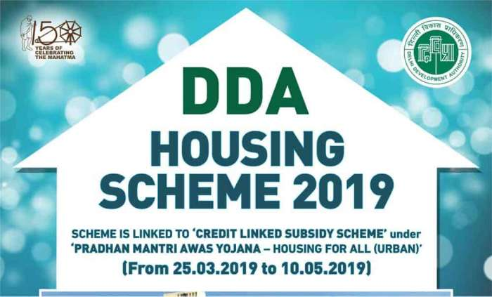 DDA Housing Scheme 2019 Vasant Kunj and Narela