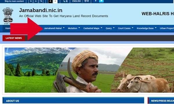 Jamabandi Haryana Online Land Records