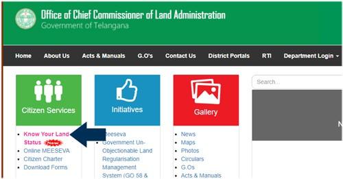 Telangana Land Records CCLA Pahani ROR 1B