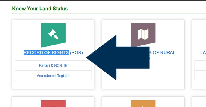 Telangana Land Status Records of Right ROR