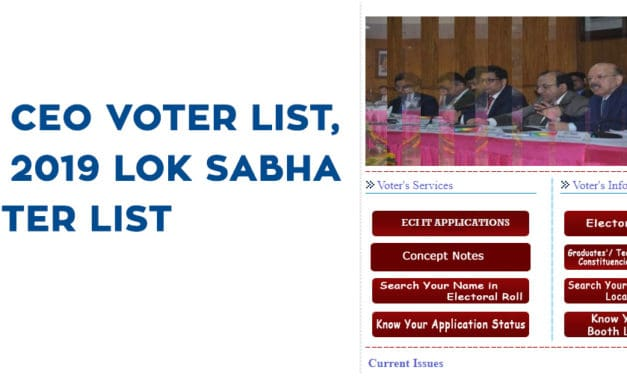 UP CEO Voter List, UP 2019 Lok Sabha Voter List , UP Voter Pdf List