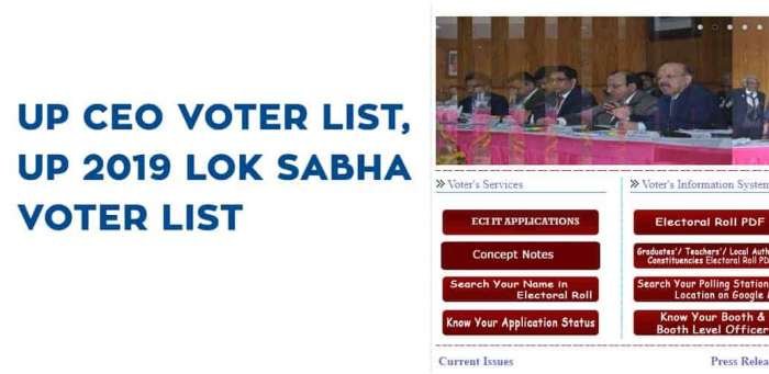UP CEO Voter List, UP 2019 Lok Sabha Voter List
