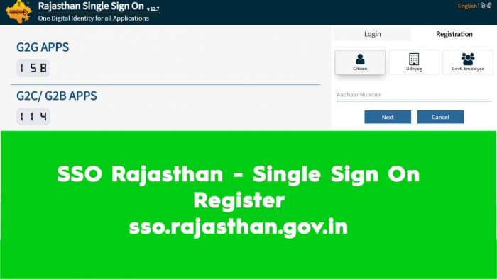 SSO Rajasthan Single Sign On Register sso.rajasthan.gov.in