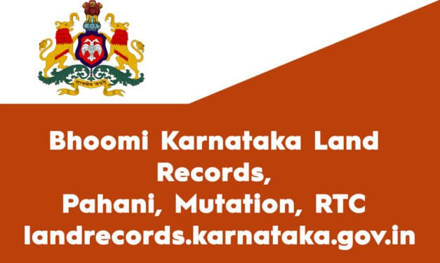 Bhoomi Karnataka Land Records, Pahani, Mutation, RTC – landrecords.karnataka.gov.in