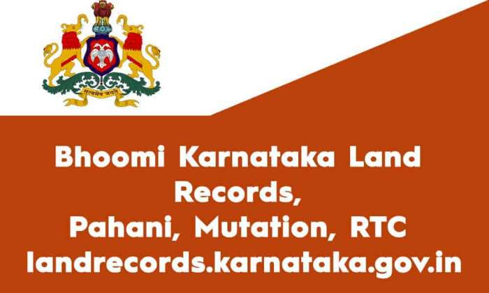 Bhoomi Karnataka Land Records Pahani Mutation RTC landrecords.karnataka.gov.in