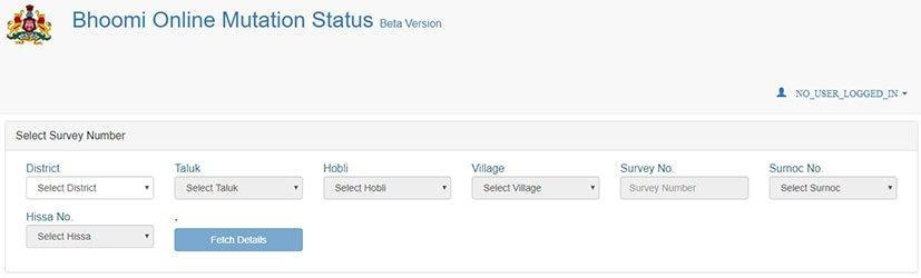 Bhoomi Online Karnataka Mutation Status