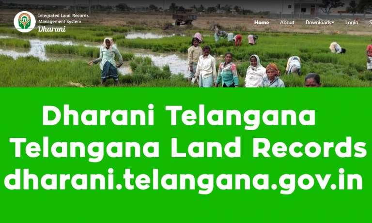 Dharani Telangana Telangana Land Records dharani.telangana.gov.in