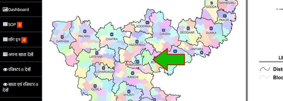 Jharbhoomi District Map Online