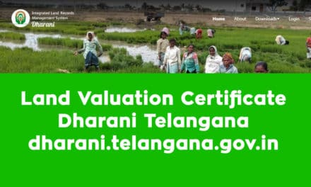 Land Valuation Certificate Dharani Telangana – dharani.telangana.gov.in