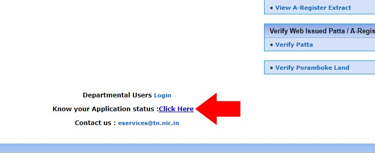 TN Patta Chitta Application Status