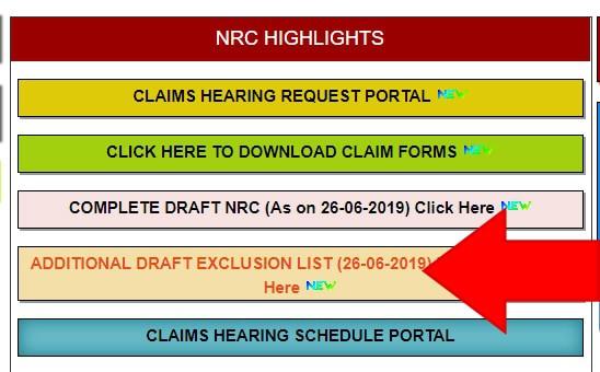 NRC Assam Draft Exclusion List 2019