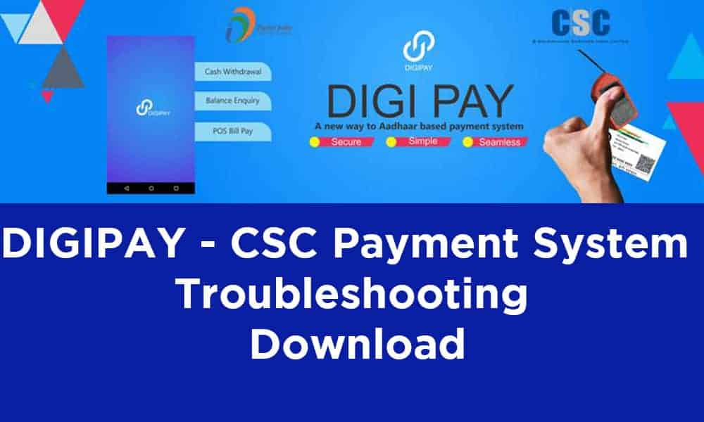 DIGIPAY CSC Payment System Troubleshooting Download