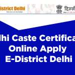 Delhi Caste Certificate Online Apply – E-District Delhi