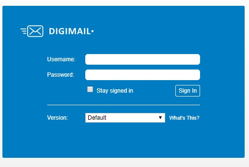 Digimail Login forget password
