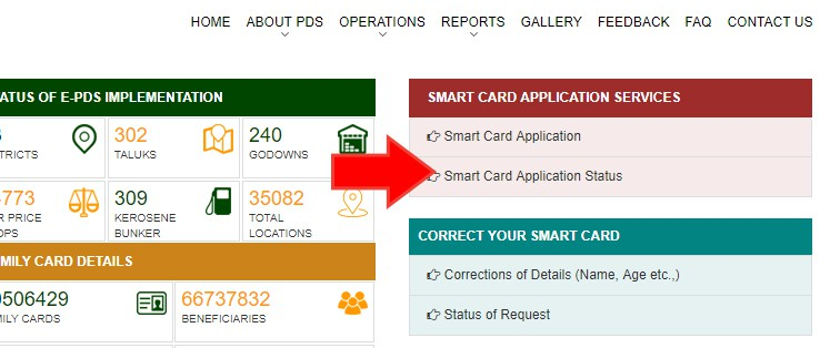 TNPDS Smart Card Check Status
