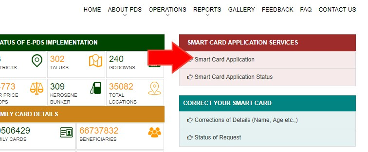 Tamilnadu TNPDS Smart Ration Online Apply