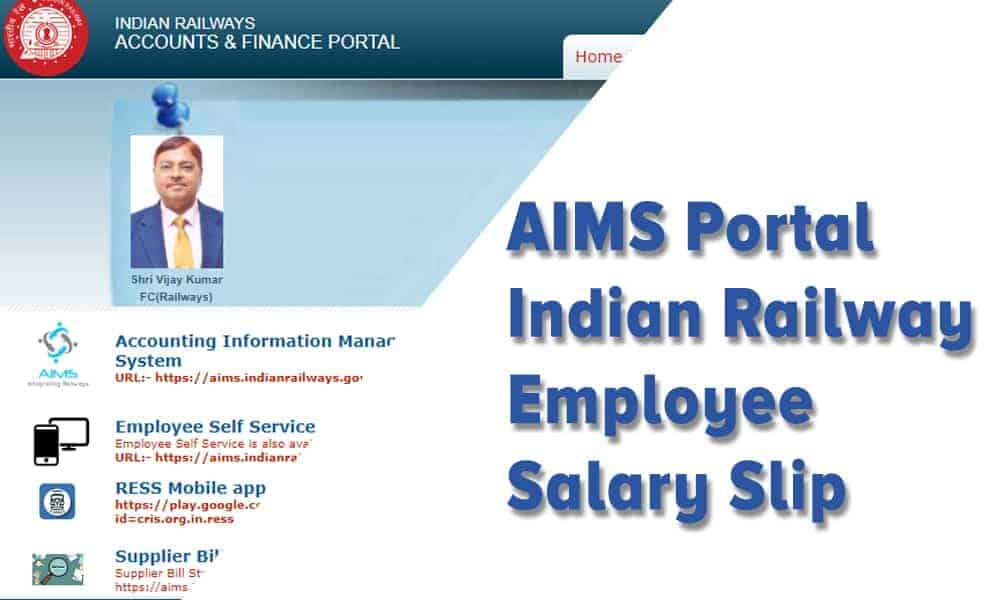 AIMS Portal Indian Railway Employee Salary Slip