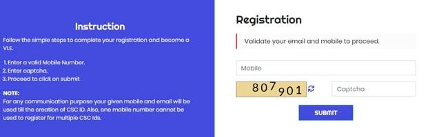 CSC Digital Portal VLE registration