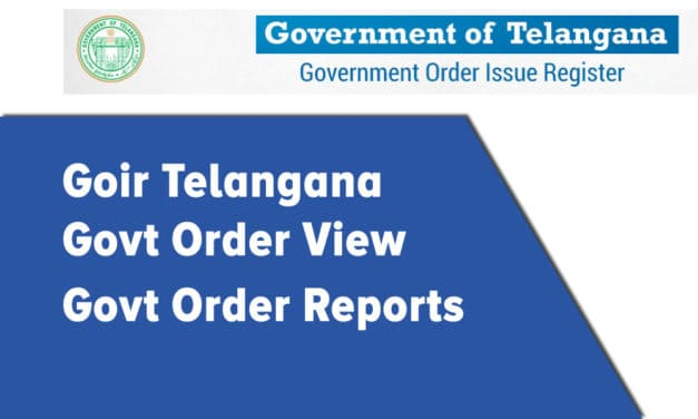 Goir Telangana | GO View | GO Reports
