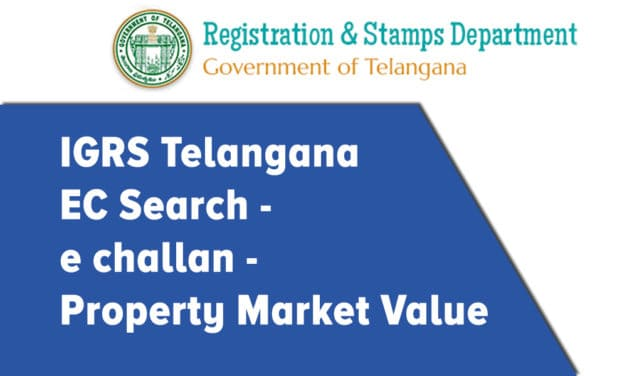 IGRS Telangana EC Search | e challan | Market Value