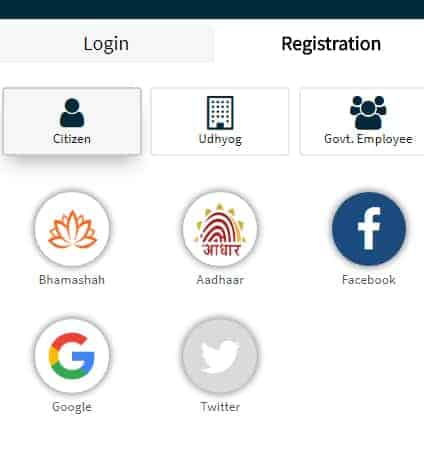 SSO Rajasthan Citizen Register