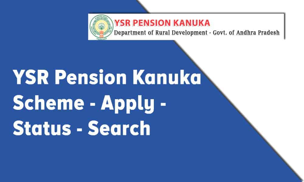 YSR Pension Kanuka Scheme Apply Online, Status, and Search