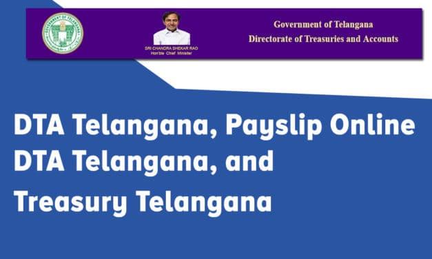 DTA Telangana, Payslip Online DTA Telangana, and Treasury Telangana