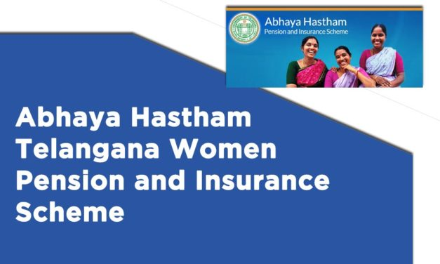 Abhaya Hastham Telangana Women Pension and Insurance Scheme