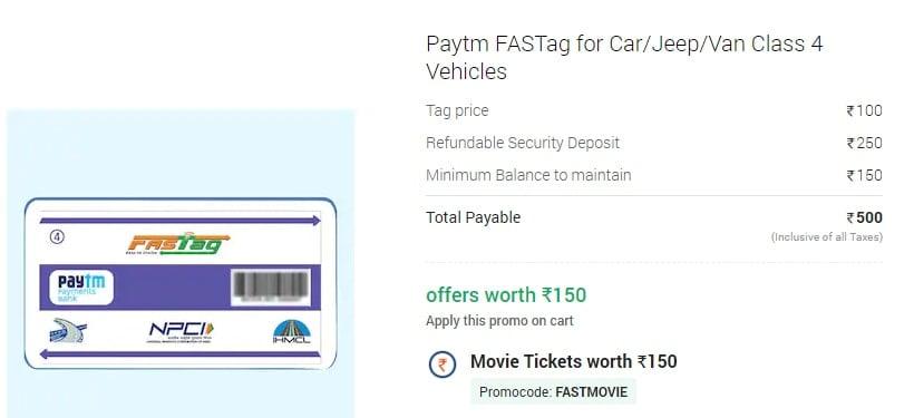 Buy Paytm FASTag Online