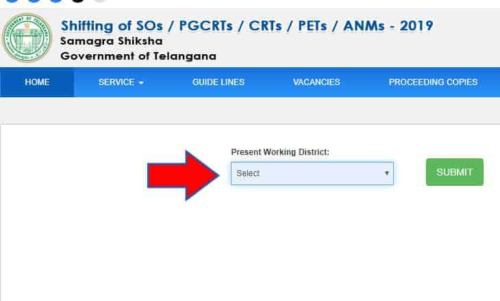 CDSE Telangana Inter District Transfer Options