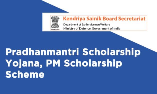 Pradhanmantri Scholarship Yojana, PM Scholarship Scheme