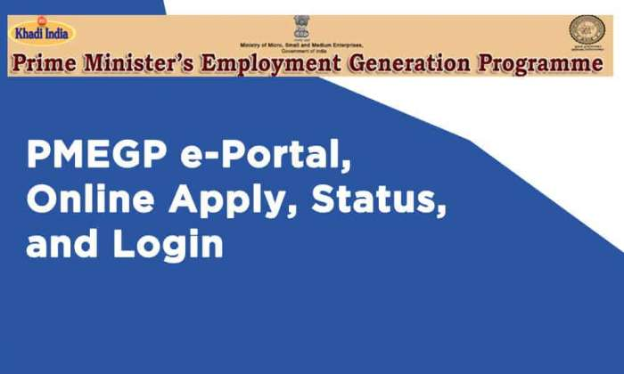 PMEGP e-Portal Online Apply Status and Login