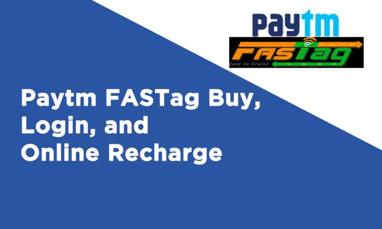 Paytm FASTag Buy Login and Online Recharge