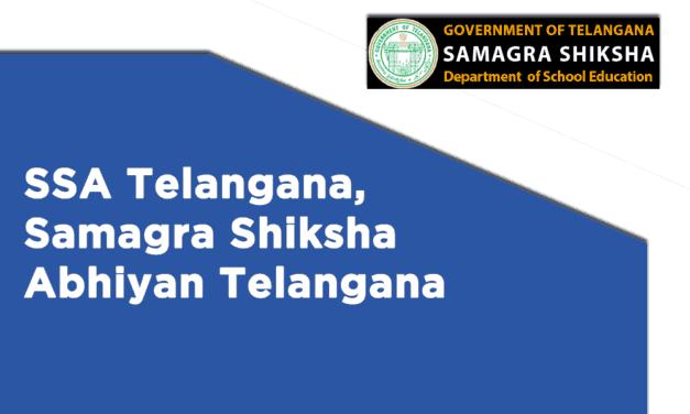 SSA Telangana, Samagra Shiksha Abhiyan Telangana