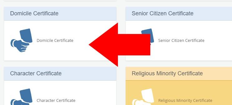 Digital Gujarat Portal New Domicile Certificate Apply