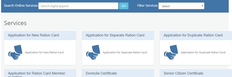 Digital Gujarat Services List