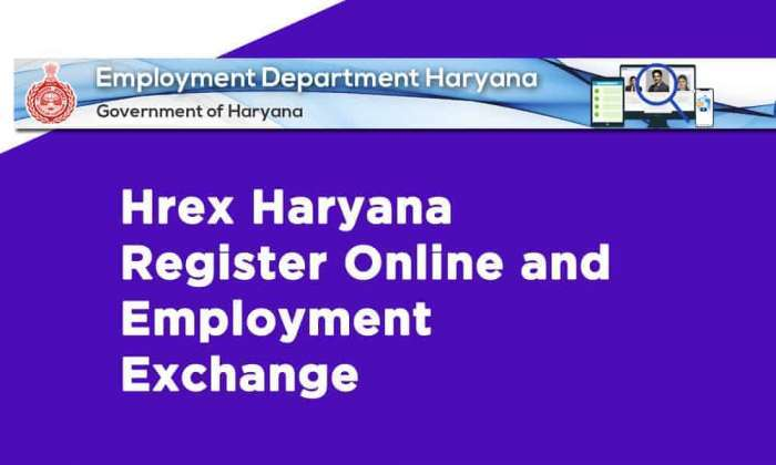 Hrex Haryana Register Online and Employment Exchange