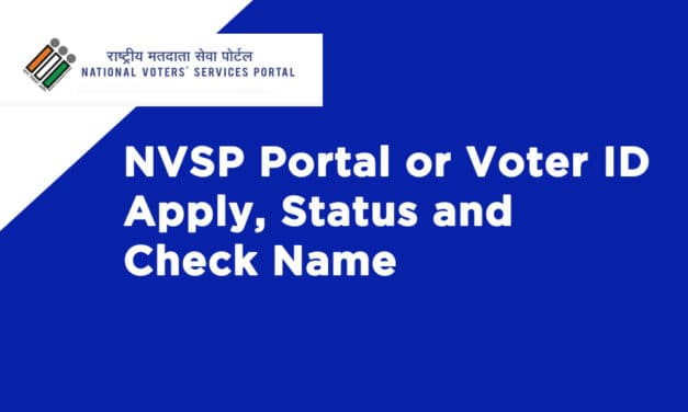 NVSP Portal or Voter ID Apply, Status and Check Name