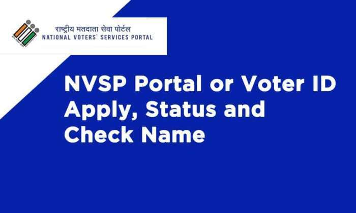 NVSP Portal or Voter ID Apply Online