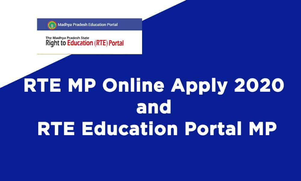 RTE MP Online Apply and RTE Education Portal MP